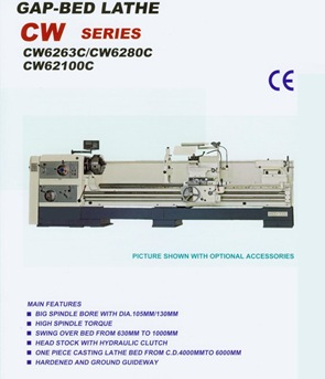 Gap bed lathe CW series