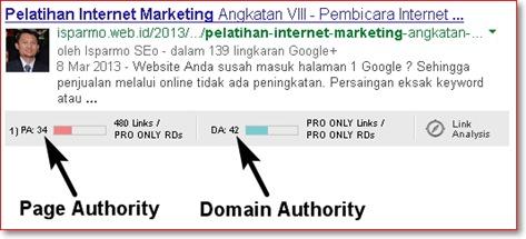 Cek Domain Authority - Page Authority menggunakan Firefox + addon MozBar