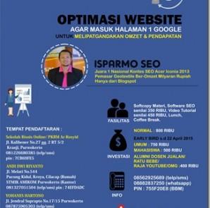 pelatihan seo dan internet marketing purwokerto