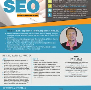 pelatihan kursus SEO Internet MarketingBekasi2015