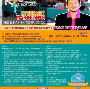 Kursus Pelatihan SEO Internet Marketing Semarang Maret 2016