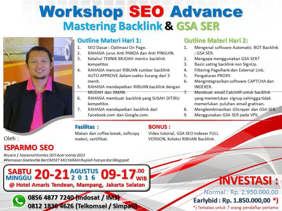 pelatihan seo internet marketing 2016