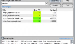 Yandex Thematic Citation Index TIC GSA PR Emulator